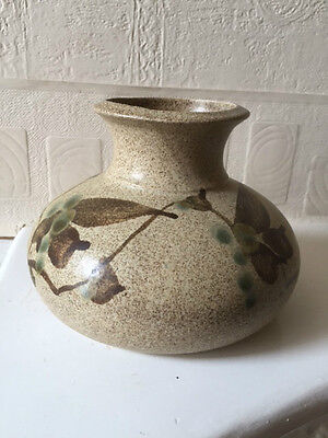 Hand Made English Studio Vase Laurie Walsh Of Batley Yorkshire • 22£
