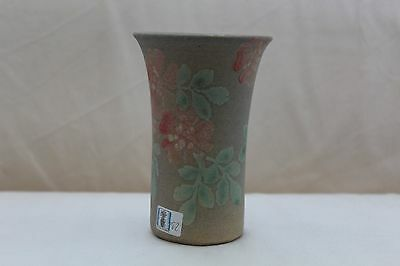 Vintage Hand Painted Conwy Pottery Vase With Floral Design • 8.99£