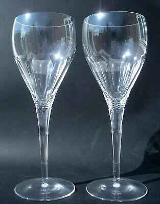 Fab Pair Discontinued XL Royal Doulton Cut Crystal 'Metropolitan' Wine Glasses • 29.99£