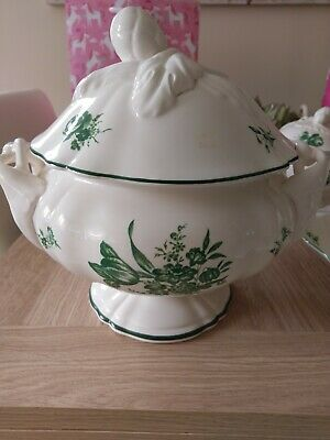Creamware Rare William Yeoward Design Large Tureen With /cone Nut Detail On Lid • 35£