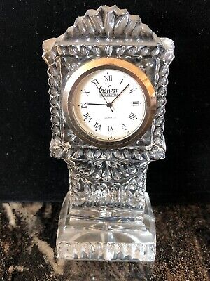 Galway Crystal  4 I/2 Inch Grandfather Clock • 28£
