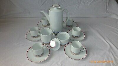 White 15-piece China Coffee Set From THOMAS - Medaillon – Form 10700 - #837  • 30£