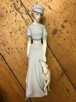 Royal Dux Bohemia Bisque Figurine Of A Lady With A Greyhound/whippet • 55£