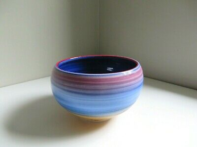 Vtg Hunt Prothro Usa Studio Art Clean Drinking Pottery Porcelain Bowl Signed '93 • 49£