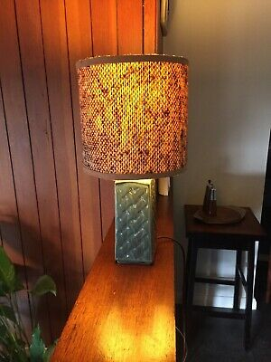 Vintage Holkham Studio Pottery Lamp - Unusual Pattern Similar To Soholm • 45£