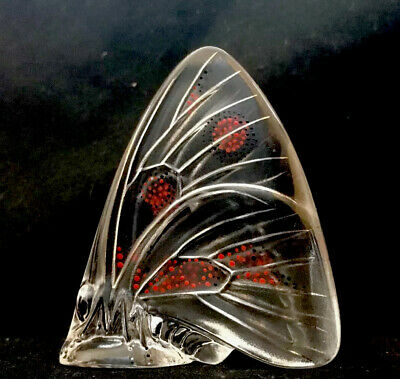 Lalique Hand Painted Clear Butterfly • 125£