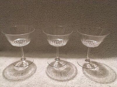 Three Victorian / Edwardian Champagne Glasses • 17.50£