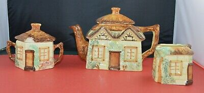 Cottageware Keele Street Pottery Teapot Milk Jug Covered Sugar Container • 10£