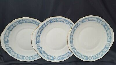 ROYAL VALE  Blue White Eared  Bread & Butter Serving/Cake Plates X 3  • 14.99£