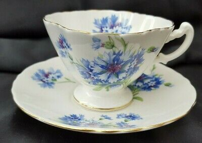 Hammersley Blue Cornflower Cup And Saucer. • 14.99£