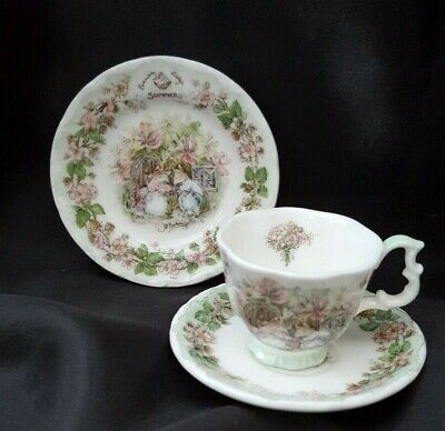 Royal Doulton Brambly Hedge SEASONS MINIATURE CUP, SAUCER AND SIDE PLATE • 24£