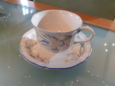 Villeroy & Boch Riviera Porcelain Tea Cups And Saucers Excellent Condition  • 6.90£