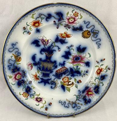 Antique Flow Blue Dinner Plate William Ridgway Son & Co~ Dated 1838-1847 • 30£