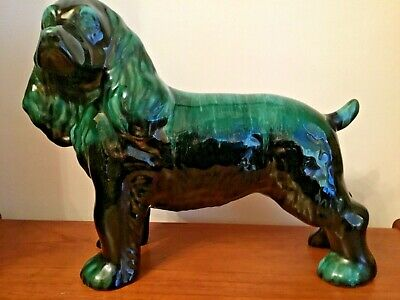 Canadian Blue Mountain Pottery Large Spaniel Dog Figurine - Free P&P • 40£