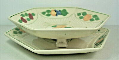 Adams Titian Ware - Fruit Pattern - Salad Drainer With Base Plate • 29.99£