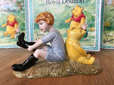 Royal Doulton Christopher Robin & Pooh, Winnie The Pooh Collection — BOXED • 24.99£