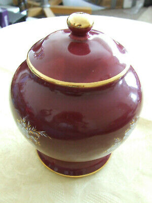 Prinknash Maroon Luster Lidded Container Undamaged And Apperes Unused. Gold Trim • 4.50£