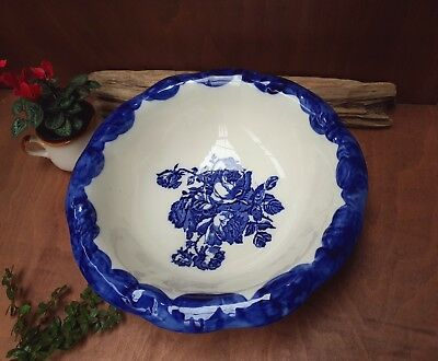 Vintage Victoria Ware Ironstone Large Round, Washing  Bowl Decorated With Roses  • 29£
