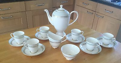 Gorgeous Never Used Royal Tuscan 'Chatelaine' Coffee Set For 6 • 45£