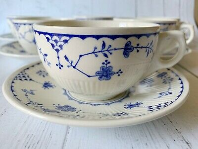 6 Furnivals Denmark Tea Cups With Saucers • 25£