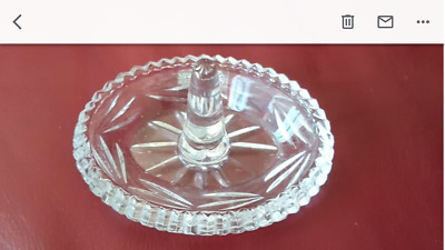 Galway Crystal Ring/jewelry Holder • 10£