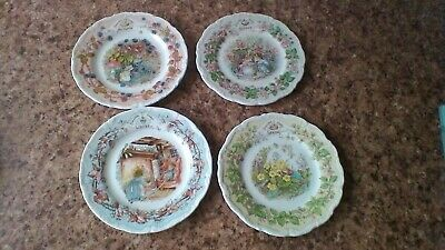 Royal Doulton Brambly Hedge 4 Seasons 6inch Plates. • 38£