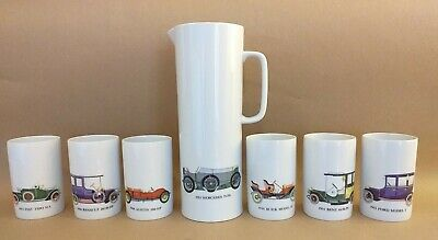 Thomas Germany Drink Set China Porcelain Vintage Classic Cars • 46£