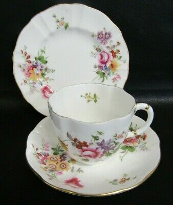 Royal Crown Derby Posies Tea Cup, Saucer & Plate - Trio - First Quality • 10£