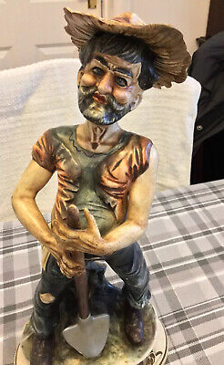Capodimonte Figurine Of A Tramp With A Spade • 35£