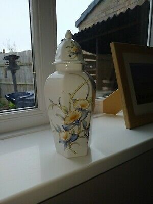 Ainsley Just Orchids Lidded Vase *made In England* • 2.10£