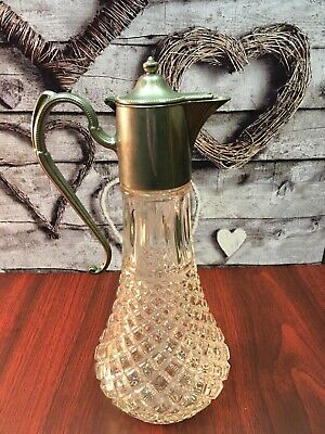 Antique E.P. Zinc Pitcher/jug/decanter/carafe Silver Plated. Made In England • 3.70£
