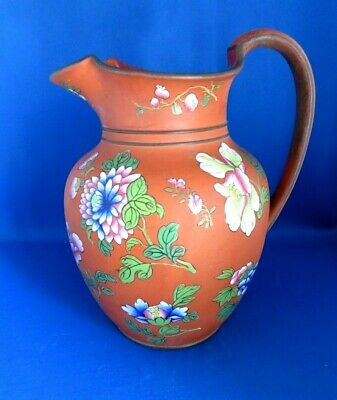 Antique Early 19thc Large Wedgwood Rosso Antico Redware Ewer C1820- Chinese  • 101£