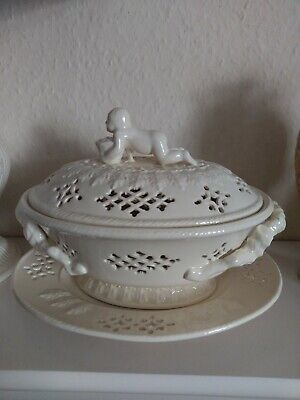 Royal Creamware Masterpieces Reticulated Tureen And Plate • 49£