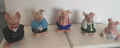 WADE FULL SET NATWEST PIGS WITH ORIGINAL STOPPERS - Perfect Condition • 28£