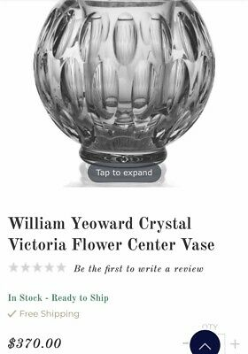 William Yeoward Crystal Victoria Vase • 179£
