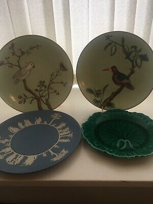 Pair Minton Art Deco Plates And 2 Wedgwood Plates Rare And Perfect • 6.70£