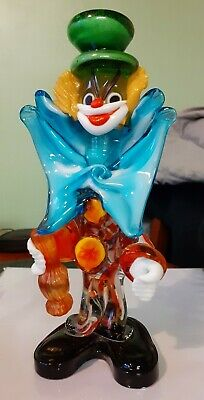Murano Glass Clown With Bottle 20cm  • 30£