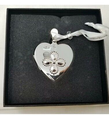 Waterford Silver Heart Xmas Decoration 2018 New • 19.99£