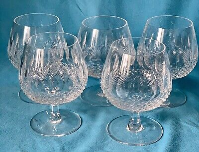 Five Beautiful Waterford Crystal 'Colleen' Brandy Glasses In Excellent Condition • 15.50£