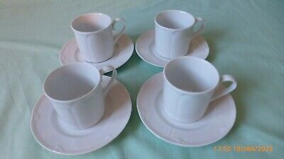 Four Stamford (Marks And Spencer) Coffee / Expresso Cups And Saucers • 17.50£