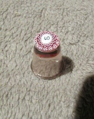 Caithness Ruby Glass Millefiori Thimble.  • 4£