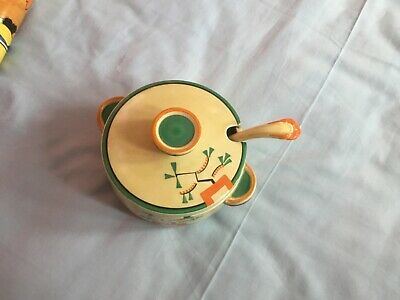 Bizarre By Clarice Cliff- Ravel Pattern Tureen And Soup Spoon( Rare )  • 230£
