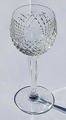 Waterford Crystal Glass - 'alana' Hock / Wine Glass - Ex Cond. Height 7.25  • 20£