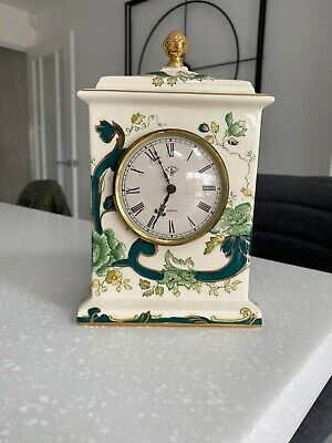 "Masons Ironstone ""Chartreuse Green"" Mantle Clock • 25£"