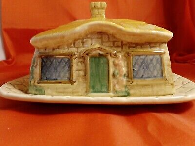 Vintage Sylvac Cottage Butter Dish Use/Display Lovely Condition! • 8.99£