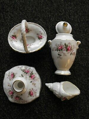 Royal Albert Lavender Rose Four Small Decorative Pieces • 22£