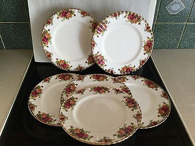 ROYAL ALBERT OLD COUNTRY ROSE 10 1/4  DINNER PLATES Excellent • 8.50£