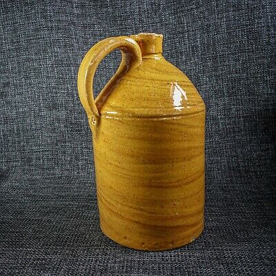 Unusual Agate Finish Stoneware Mineral Water Bottle  - Sussex? - 19th C • 28£