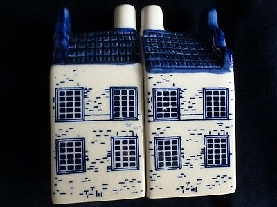 Vintage Delft Salt & Pepper Canal Houses Holland Hand Painted • 5.99£
