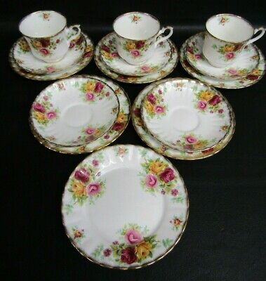 Royal Stafford Bouquet Pattern 14 Piece Tea Set - Similar To Old Country Roses  • 14£